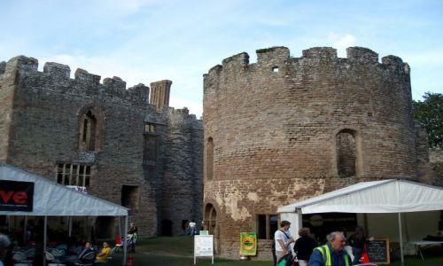 WIELKA BRYTANIA / Shrposhire / zamek w Ludlow (Castle of Ludlow) / Zamek Ludlow