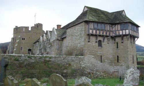WIELKA BRYTANIA / Shropshire / w poblizu miasteczka Craven Arms  / STOKESAY CASTLE