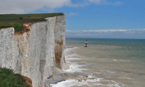 Zdjecie WIELKA BRYTANIA / Sussex / Beachy Head / kredowe klify
