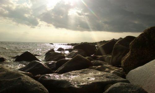 Zdjęcie WIELKA BRYTANIA / hampshire / milford on sea / nadmorskie skaly