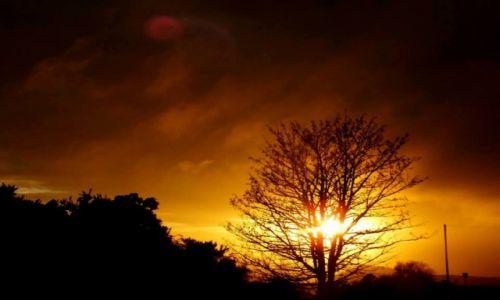 Zdjęcie WIELKA BRYTANIA / Szkocja / Edynburg / płomienny zachód słońca