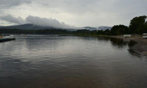 Zdjęcie WIELKA BRYTANIA / Szkocja / Aviemore / Jezioro we mgle