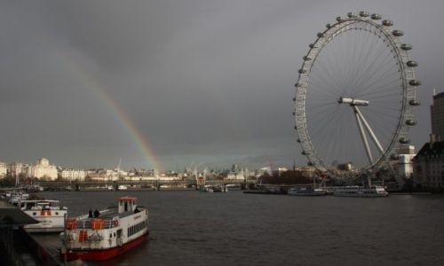 Zdjecie WIELKA BRYTANIA / Londyn / London Eye / Tęczowo