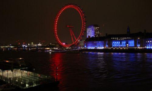 Zdjecie WIELKA BRYTANIA / Londyn / London Eye / Czerwone ko�o