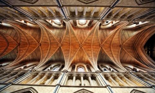 Zdjęcie WIELKA BRYTANIA / Londyn / Na południowym brzegu Tamizy / Katedra w Southwark, sklepienie