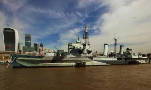 Zdjęcie WIELKA BRYTANIA / Londyn / Tamiza / Krążownik HMS Belfast