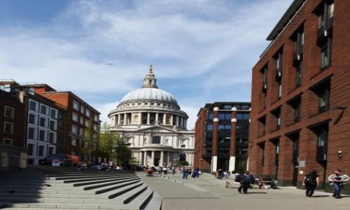 Zdjęcie WIELKA BRYTANIA / Londyn / Most Milenijny / Katedra św. Pawła