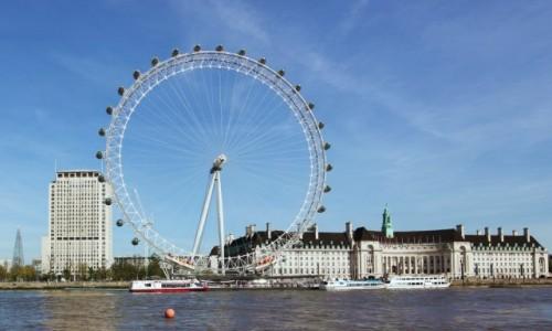 Zdjęcie WIELKA BRYTANIA / Londyn / Tamiza / Koło Milenijne, czyli Londyńskie Oko