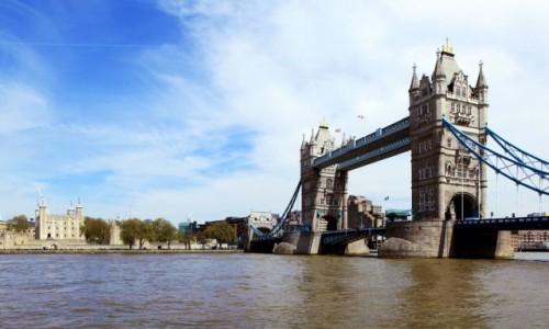 Zdjęcie WIELKA BRYTANIA / Londyn / Tamiza / Tower of London and Tower Bridge