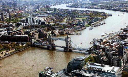 Zdjecie WIELKA BRYTANIA / Londyn / Wieżowiec Shard  / Tamiza