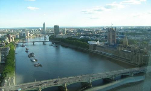 Zdjecie WIELKA BRYTANIA / - / London Eye / Widok z London Eye