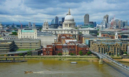 Zdjęcie WIELKA BRYTANIA / Londyn / Z tarasu Tate Modern / Między niebem a wodą