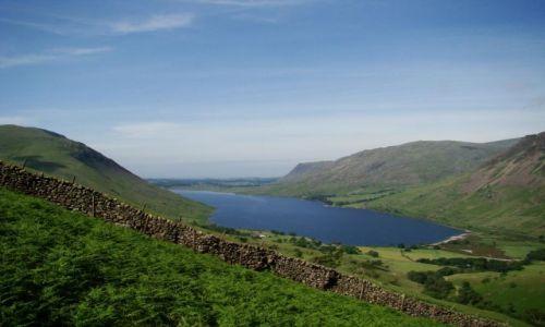 Zdjecie WIELKA BRYTANIA / Lake District/ Cumbria / Wasdale Head / Wastwater / przy dobrej pogodzie