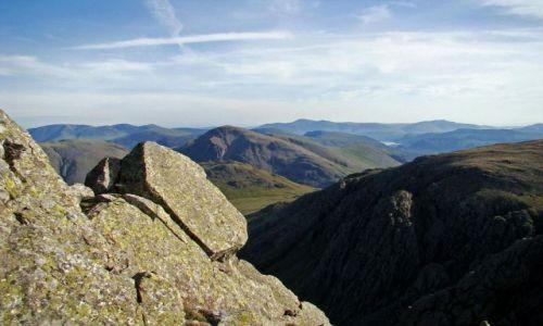 Zdjęcie WIELKA BRYTANIA / Cumbria / Lake District / Scafell Pike / formy skalne na Scafell Pike