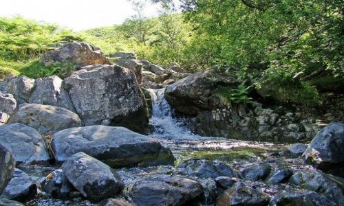 Zdjęcie WIELKA BRYTANIA / Cumbria / Lake District / Wast water / przy gorskim strumieniu
