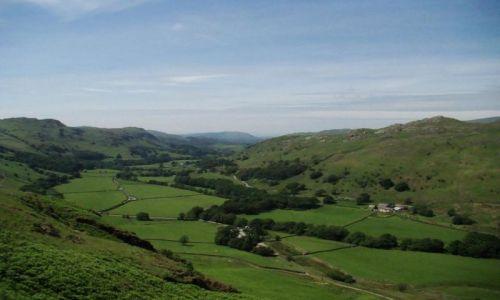 Zdjęcie WIELKA BRYTANIA / Cumbria / Lake District / Eskdale / dolina  ponizej Roman Fort (Hardknott)