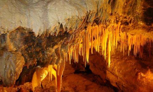 Zdjęcie WIELKA BRYTANIA / Derbyshire / Castelton / stalaktyty  (jaskiniaTreak Cliff Cavern )