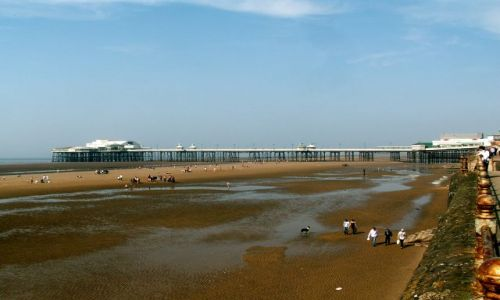 Zdjęcie WIELKA BRYTANIA / Lancashire / Blackpool / Molo - odpływ
