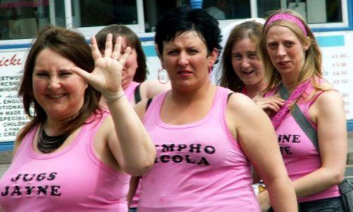 Zdjecie WIELKA BRYTANIA / Lancashire / Blackpool / Różowe damy