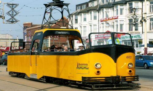Zdjecie WIELKA BRYTANIA / Anglia / Blackpool / Letni tramwaj
