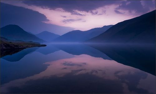 Zdjęcie WIELKA BRYTANIA / Lake District / Wast Water godz 4.00 w nocy / Wast Water