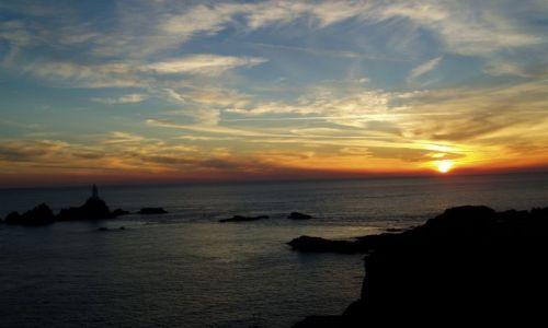 Zdjecie WIELKA BRYTANIA / Wspy Normandzkie / Jersey / zachód słońca
