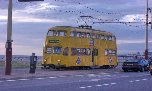 Zdjęcie WIELKA BRYTANIA / Anglia / Blackpool / Piętrowy tramwaj