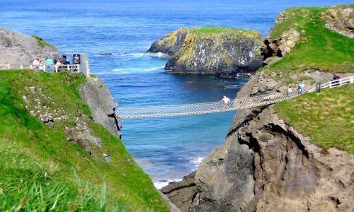 Zdjecie WIELKA BRYTANIA / Irlandia Polnocna / Ballintoy / Rope bridge