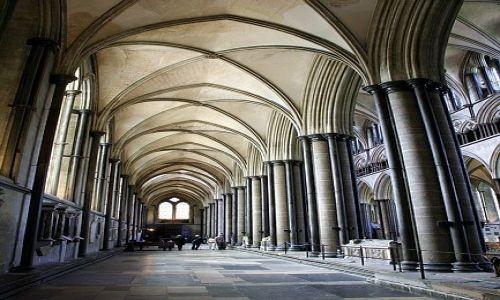 WIELKA BRYTANIA / Whiltshire / Salisbury / W gotyckiej katedrze Salisbury