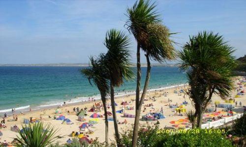 WIELKA BRYTANIA / Cornwall / St Ives / Plaża w St Ives