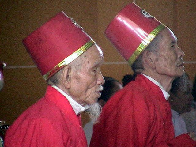 Zdjęcia: Tay Ninh, Poludniowy Wietnam, Kaplani, WIETNAM