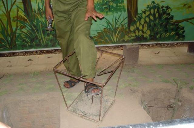 Zdjęcia: Muzeum systemu tunelowego Cu Chi , Obręb Ho Chi Minh City, Pułapka Wietkongu, WIETNAM