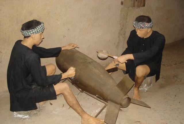 Zdjęcia: Muzeum systemu tunelowego Cu Chi , Obręb Ho Chi Minh City, Rozbrajanie bomby ha,ha, WIETNAM