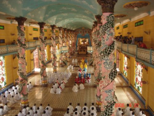 Zdjęcia: Cao Dai, Południowy Wietnam, CAO DAI TEMPLE PAGODA, WIETNAM