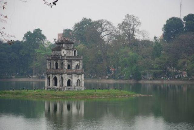Zdjęcia: Jezioro Hoan Kiem, Hanoi, Ngoc Son, WIETNAM