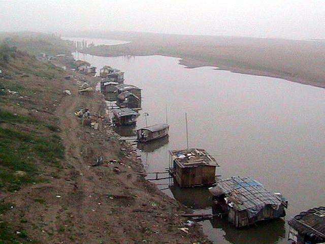 Zdjęcia: Czerwona Rzeka, Hanoi, Hanoi - Czerwona Rzeka - plywajace domy, WIETNAM