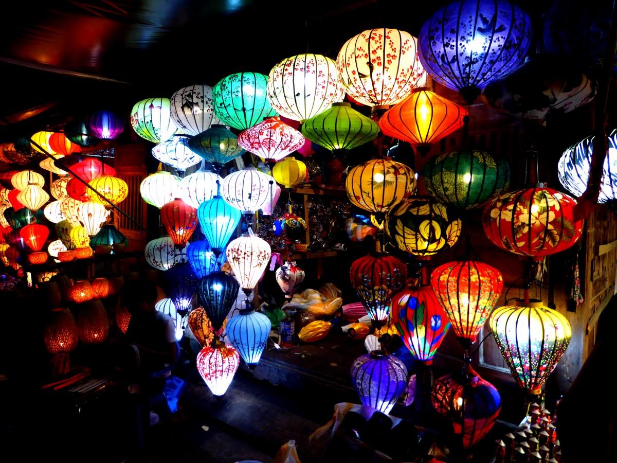 Zdjęcia: Hội An, Quảng Nam, Stoisko z lampionami, WIETNAM