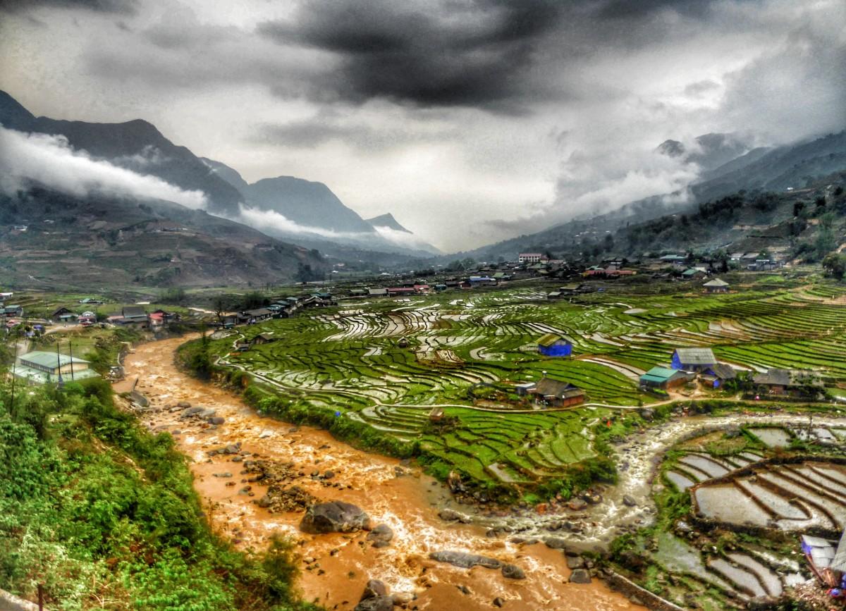 Zdjęcia: Sa Pa, Lao Cai, Tarasy ryżowe po deszczu, WIETNAM