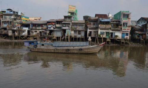 Zdjecie WIETNAM / delta Mekongu / MY tho / rzeka zycia