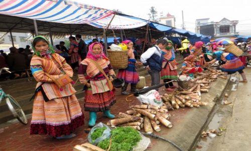 Zdjęcie WIETNAM / Północny Wietnam / Targ w Bac Ha / Praca w niedzielę
