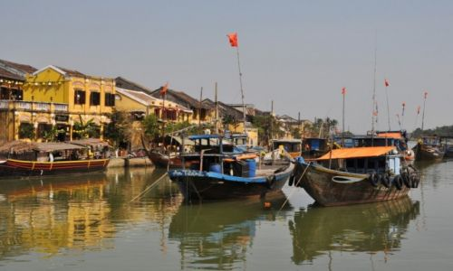 Zdjęcie WIETNAM / środkowy Wietnam / Hoi An / W porcie