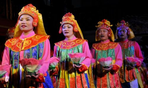 WIETNAM / środkowy Wietnam / Hue, Miasto Cesarskie / Przedstawienie w Teatrze Cesarskim