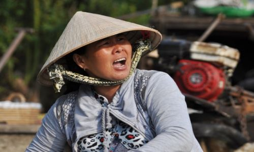 Zdjecie WIETNAM / delta Mekongu / okolice Can Tho / Na wodnym targu