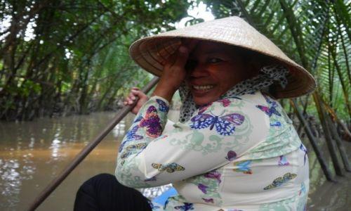 Zdjecie WIETNAM / - / Delta Mekongu / Wioślarka