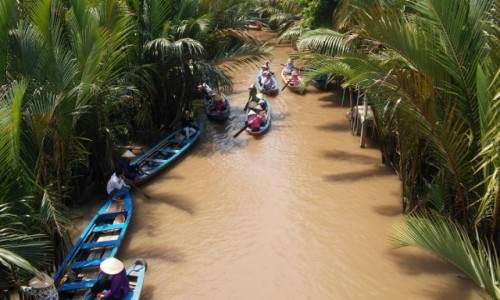 WIETNAM / Delta Mekongu / Delta Mekongu / Kanały Mekongu