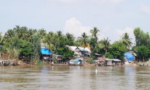 Zdjecie WIETNAM / Wietnam / W drodze do Kambod�y / Wsie nad Mekong