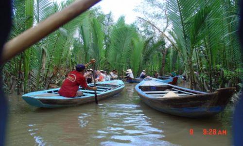 Zdjecie WIETNAM / Delta Mekongu / Południowy Wietnam / Kanał