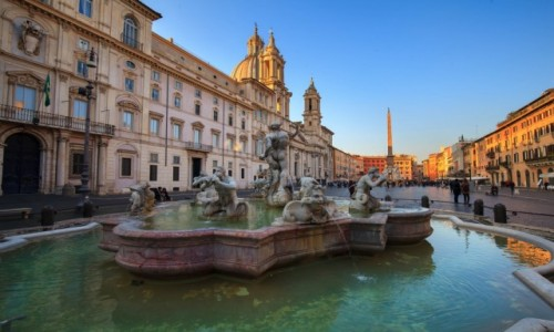WIETNAM / Rzym / Piazza Navona / Fontanna Czterech Rzek
