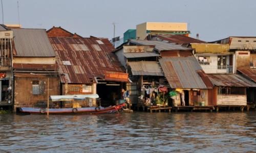 Zdjęcie WIETNAM / Delta Mekongu / My Tho / Życie nad kanałem