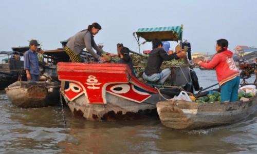 Zdjęcie WIETNAM / Delta Mekongu / Can Tho / Targ wodny